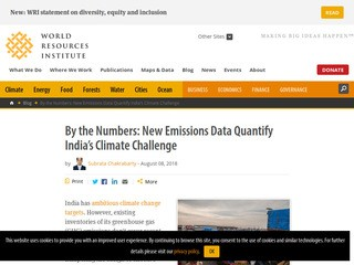 By the Numbers: New Emissions Data Quantify India's Climate Challenge