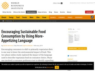 Encouraging Sustainable Food Consumption by Using More-Appetizing Language