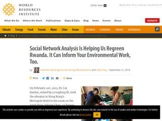 Social Network Analysis Is Helping Us Regreen Rwanda. It Can Inform Your Environmental Work, Too.
