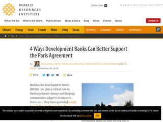 4 Ways Development Banks Can Better Support the Paris Agreement