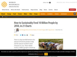 How to Sustainably Feed 10 Billion People by 2050, in 21 Charts