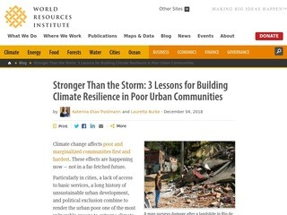 Stronger Than the Storm: 3 Lessons for Building Climate Resilience in Poor Urban Communities