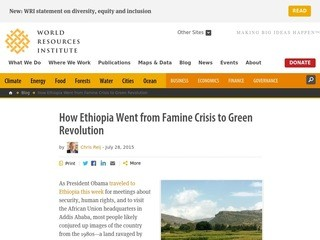 How Ethiopia Went from Famine Crisis to Green Revolution