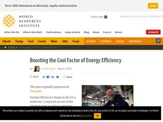 Boosting the Cool Factor of Energy Efficiency
