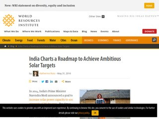 India Charts a Roadmap to Achieve Ambitious Solar Targets