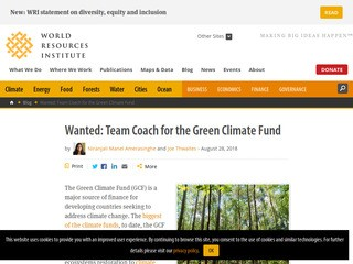 Wanted: Team Coach for the Green Climate Fund