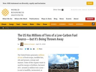 The US Has Millions of Tons of a Low-Carbon Fuel Source—but It's Being Thrown Away