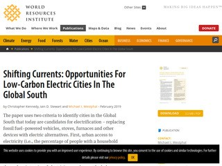 Shifting Currents: Opportunities For Low-Carbon Electric Cities In The Global South