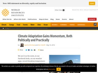 Climate Adaptation Gains Momentum, Both Politically and Practically