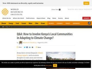 Q&A: How to Involve Kenya's Local Communities in Adapting to Climate Change?