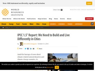 IPCC 1.5° Report: We Need to Build and Live Differently in Cities