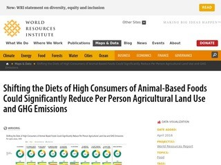 Shifting the Diets of High Consumers of Animal-Based Foods Could Significantly Reduce Per Person Agricultural Land Use and GHG Emissions