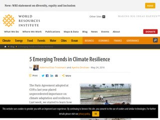 5 Emerging Trends in Climate Resilience