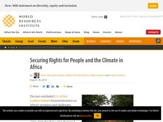Securing Rights for People and the Climate in Africa