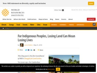 For Indigenous Peoples, Losing Land Can Mean Losing Lives