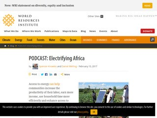 PODCAST: Electrifying Africa