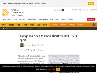 8 Things You Need to Know About the IPCC 1.5˚C Report
