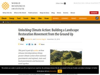 Unlocking Climate Action: Building a Landscape Restoration Movement from the Ground Up