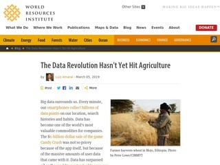The Data Revolution Hasn't Yet Hit Agriculture