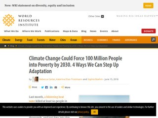 Climate Change Could Force 100 Million People into Poverty by 2030. 4 Ways We Can Step Up Adaptation