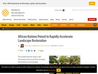 African Nations Poised to Rapidly Accelerate Landscape Restoration