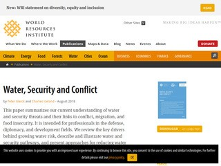 Water, Security and Conflict