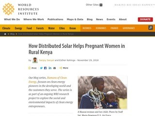 How Distributed Solar Helps Pregnant Women in Rural Kenya