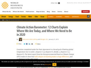 Climate Action Barometer: 12 Charts Explain Where We Are Today, and Where We Need to Be in 2020