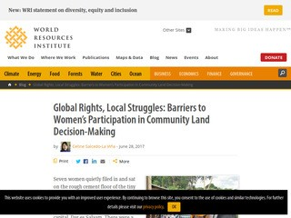 Global Rights, Local Struggles: Barriers to Women's Participation in Community Land Decision-Making