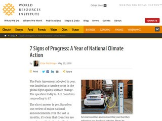 7 Signs of Progress: A Year of National Climate Action