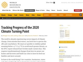 Tracking Progress of the 2020 Climate Turning Point