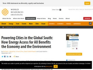 Powering Cities in the Global South: How Energy Access for All Benefits the Economy and the Environment