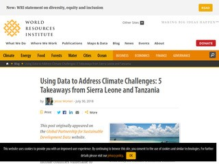 Using Data to Address Climate Challenges: 5 Takeaways from Sierra Leone and Tanzania