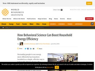 How Behavioral Science Can Boost Household Energy Efficiency