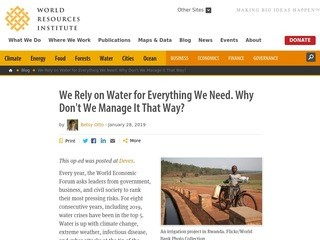 We Rely on Water for Everything We Need. Why Don't We Manage It That Way?