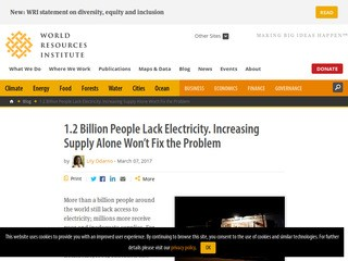1.2 Billion People Lack Electricity. Increasing Supply Alone Won't Fix the Problem