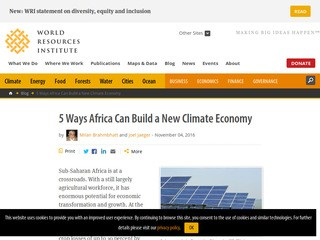 5 Ways Africa Can Build a New Climate Economy