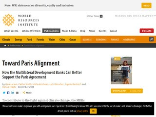 Toward Paris Alignment: How the Multilateral Development Banks Can Better Support the Paris Agreement