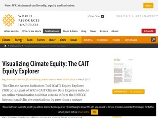 Visualizing Climate Equity: The CAIT Equity Explorer