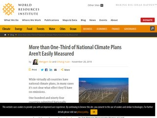 More than One-Third of National Climate Plans Aren't Easily Measured