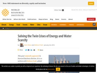 Solving the Twin Crises of Energy and Water Scarcity