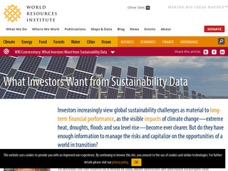 What Investors Want from Sustainability Data