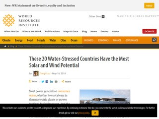 These 20 Water-Stressed Countries Have the Most Solar and Wind Potential