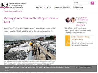 Getting Green Climate Funding to the local level