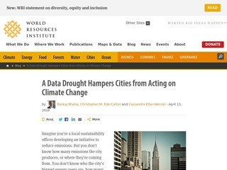 A Data Drought Hampers Cities from Acting on Climate Change
