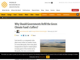 Why Should Governments Refill the Green Climate Fund's Coffers?