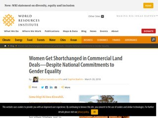 Women Get Shortchanged in Commercial Land Deals—Despite National Commitments to Gender Equality