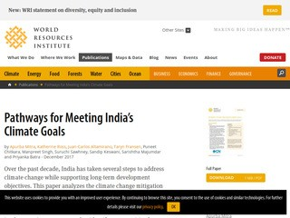 Pathways for Meeting India's Climate Goals