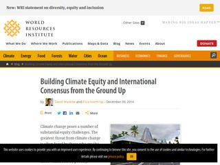 Building Climate Equity and International Consensus from the Ground Up