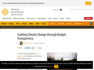 Tackling Climate Change through Budget Transparency